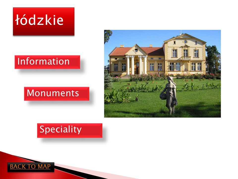 Łódzkie district is almost in the center of Poland.The capital of this district is Łódź and this is the biggest city.