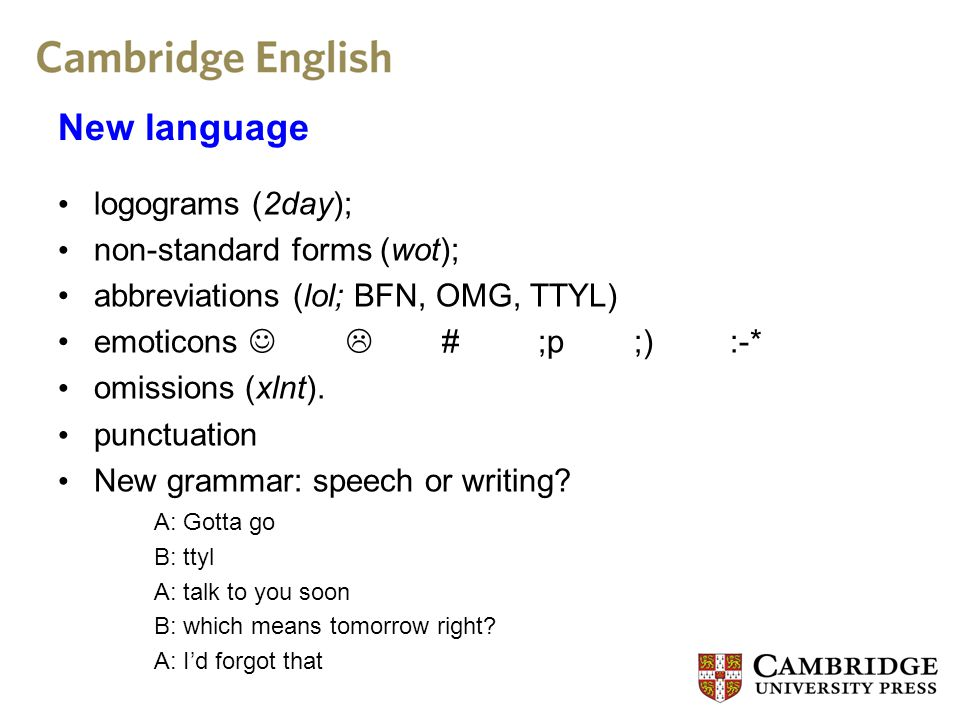 CANELC, the Cambridge and Nottingham e-Language Corpus, a one million word corpus.