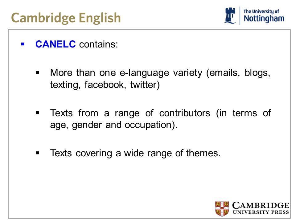 E-Language examples