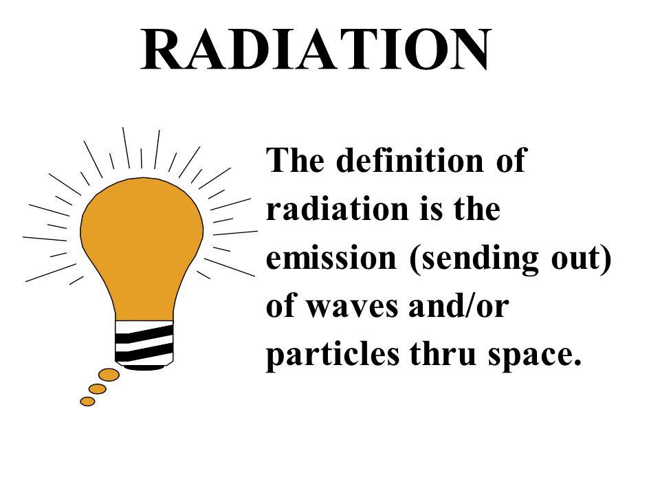 TYPES OF RADIATION heat light radio waves x-rays nuclear IONIZING OR NON - IONIZING non -ionizing ionizing
