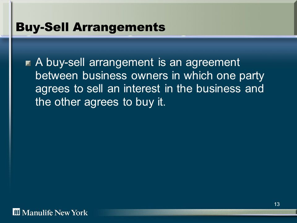 14 Buy-Sell Prospects All closely-held businesses Sole Proprietorships Partnerships S and C-Corporations