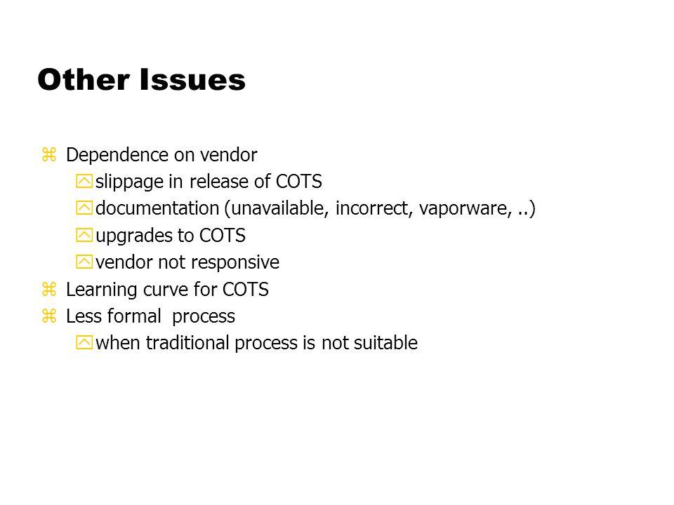 New Proposed Process RequirementsDesignCoding Make vs.