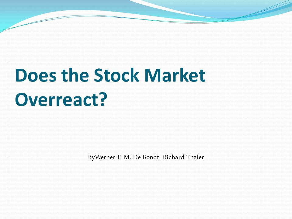 Does the stock market overreact.