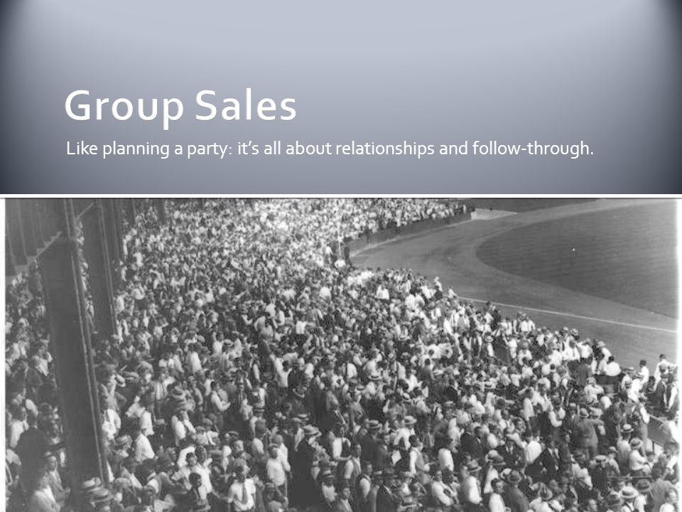 CASES Clear target & objective Add value Simple Experiential Sponsored Lets listen to the guru of group sales: Jeremy Walls.