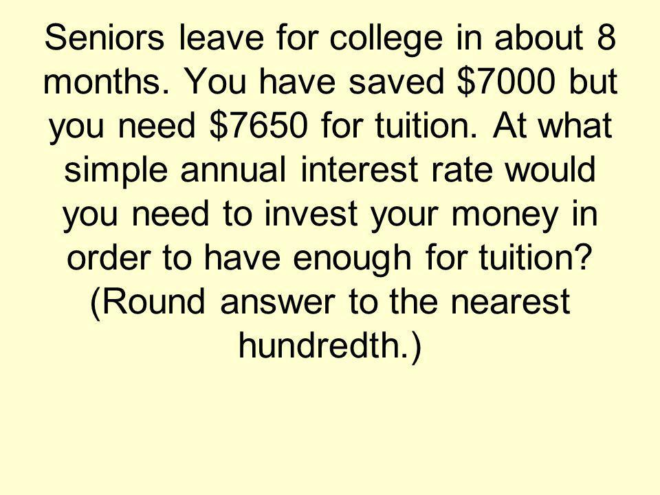 Juniors have a little more time before starting college.