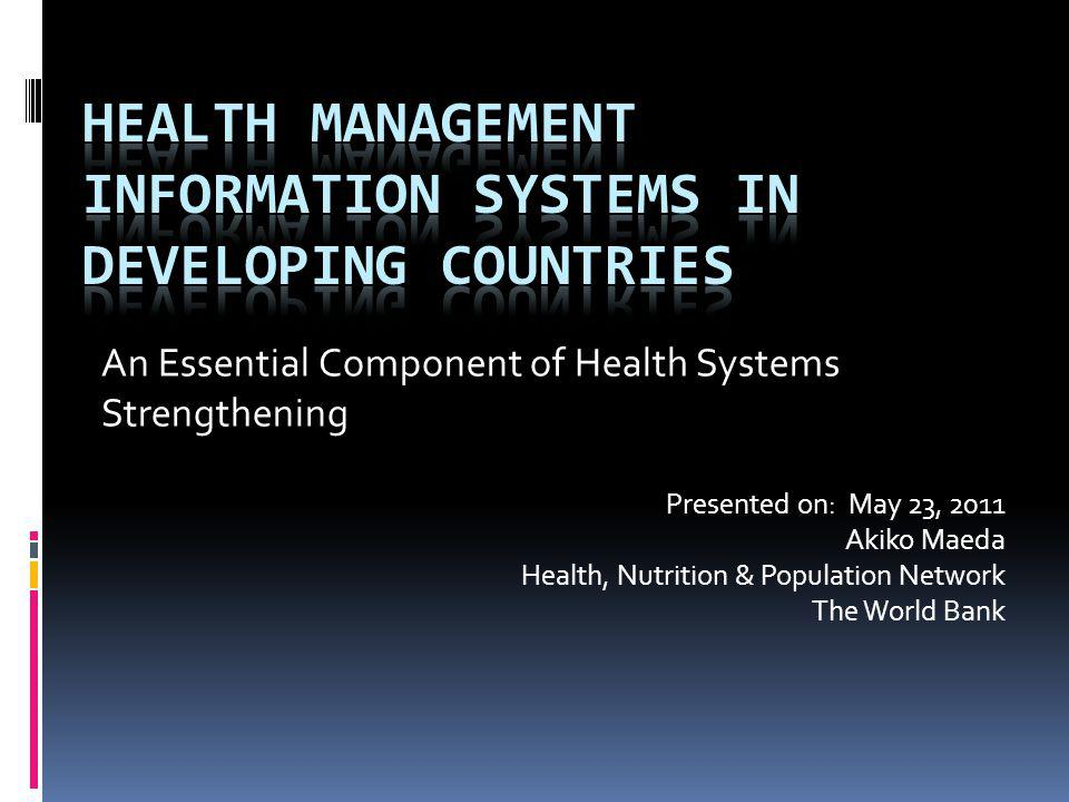 Health care is the worlds most information- intense industry due to the complexity and uncertainties inherent in the sector.