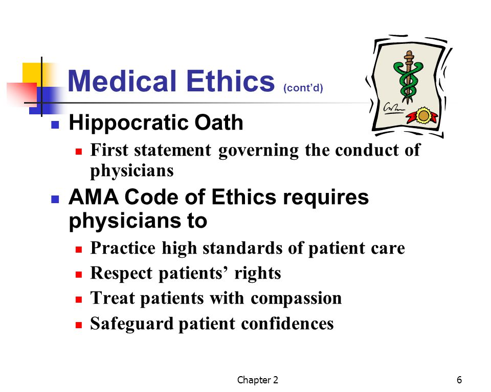 Chapter 27 Medical Assistants Ethical Responsibility AAMA Code of Ethics and Creed Based on AMA code Medical assistant acts as agent of physician