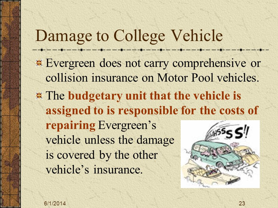 6/1/201424 Driver Liability Drivers of Evergreens vehicles have the potential for personal liability if the accident occurred due to Gross negligence.
