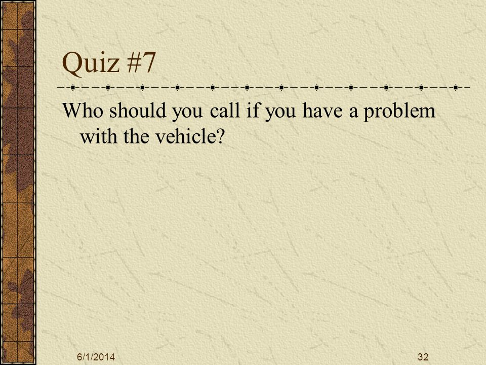 6/1/201433 Answer 1) Which of the following are legitimate uses of a college vehicle.