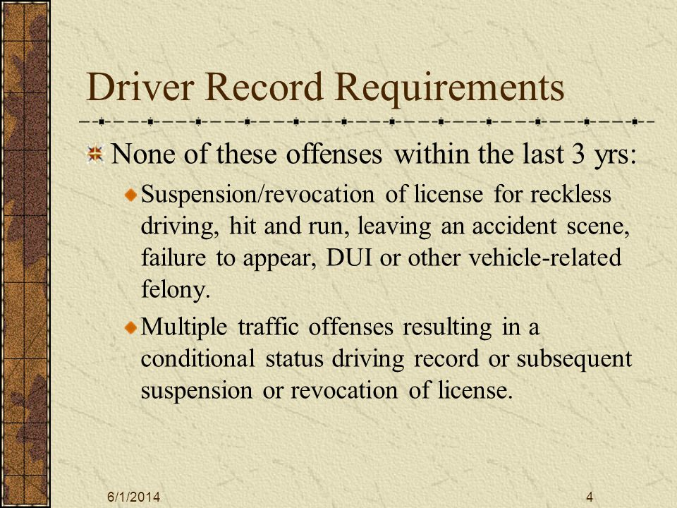 6/1/20145 To get Evergreen Use Permit View Motor Pool Policies and Procedure slide show.