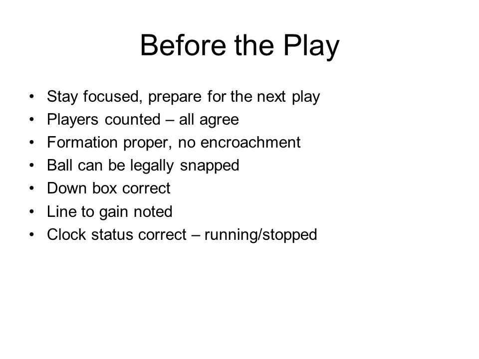 After the Whistle Late hits, runs out of bounds Focus on your area One set of eyes on each player Separate players before: –Retrieving the ball (hold your spot) –Reporting a foul (clock stopped?) –Communicating with crew or coaches Stay focused on the game
