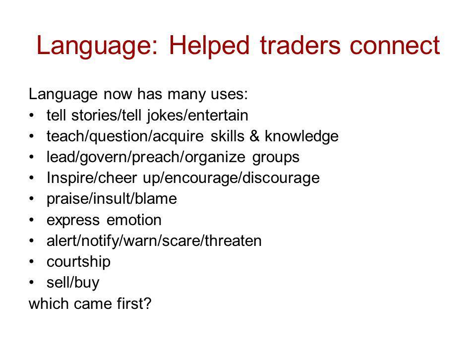 Use of Single Words I assume language began as single words.