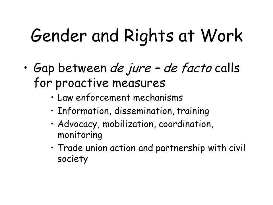 Gender and Employment More and Better Jobs –Decent work: qualitative approach –Address horizontal and vertical segregation