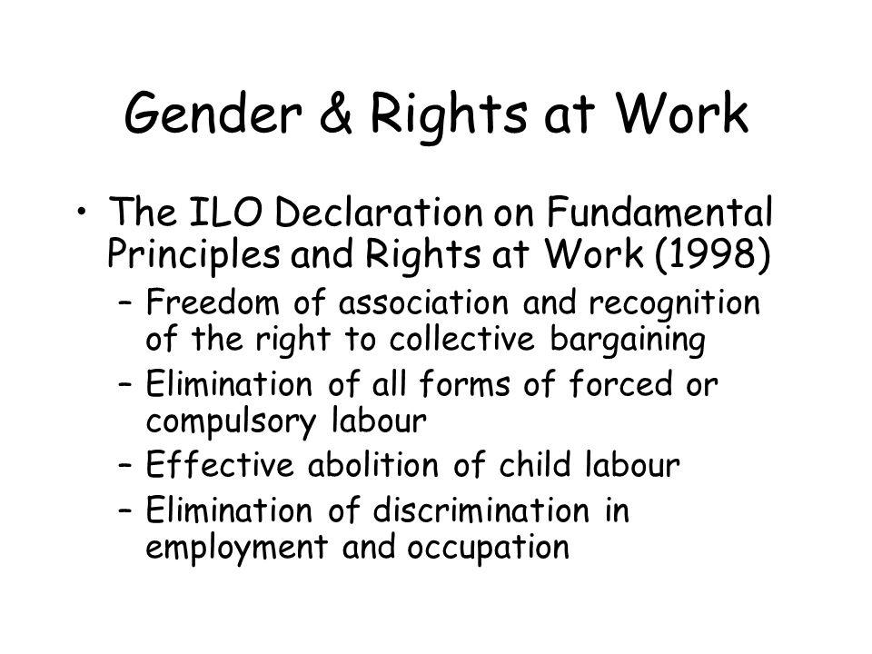 Declaration as the threshold to Decent Work – a minimum social platform for the global economy (Copenhagen) –a promotional instrument for universal rights and the development agenda –a common objective for the international community
