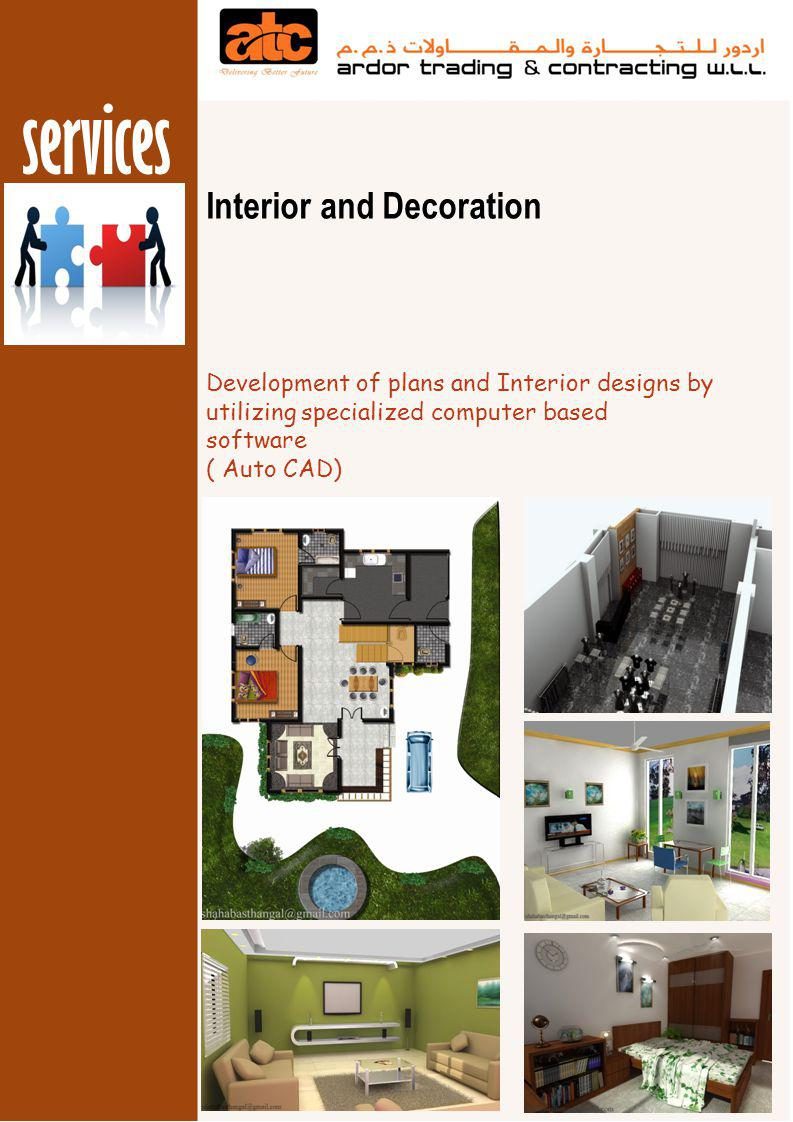 services Interior and Decoration Supplying and Installation of all ordinary gypsum and gypsum board products