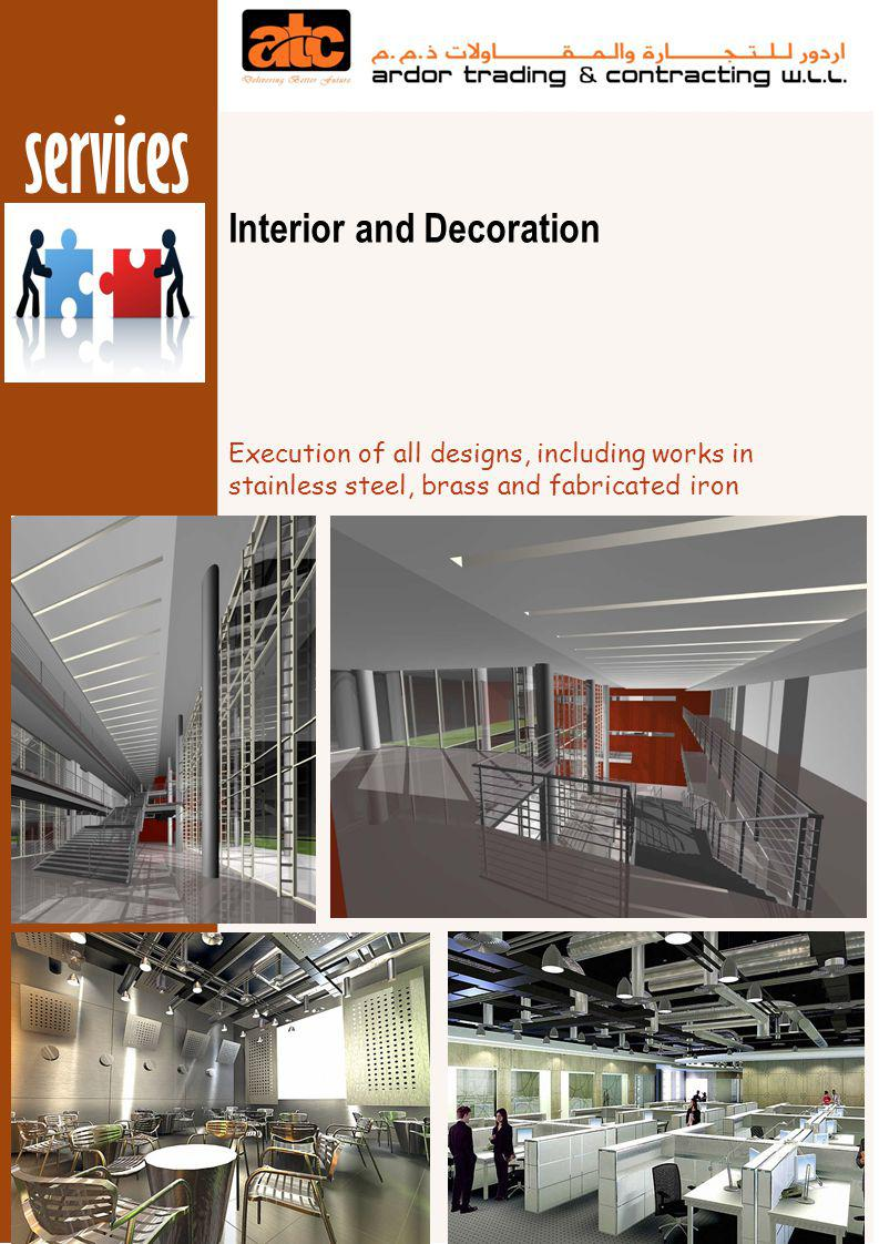 services Interior and Decoration Completed and Ongoing works