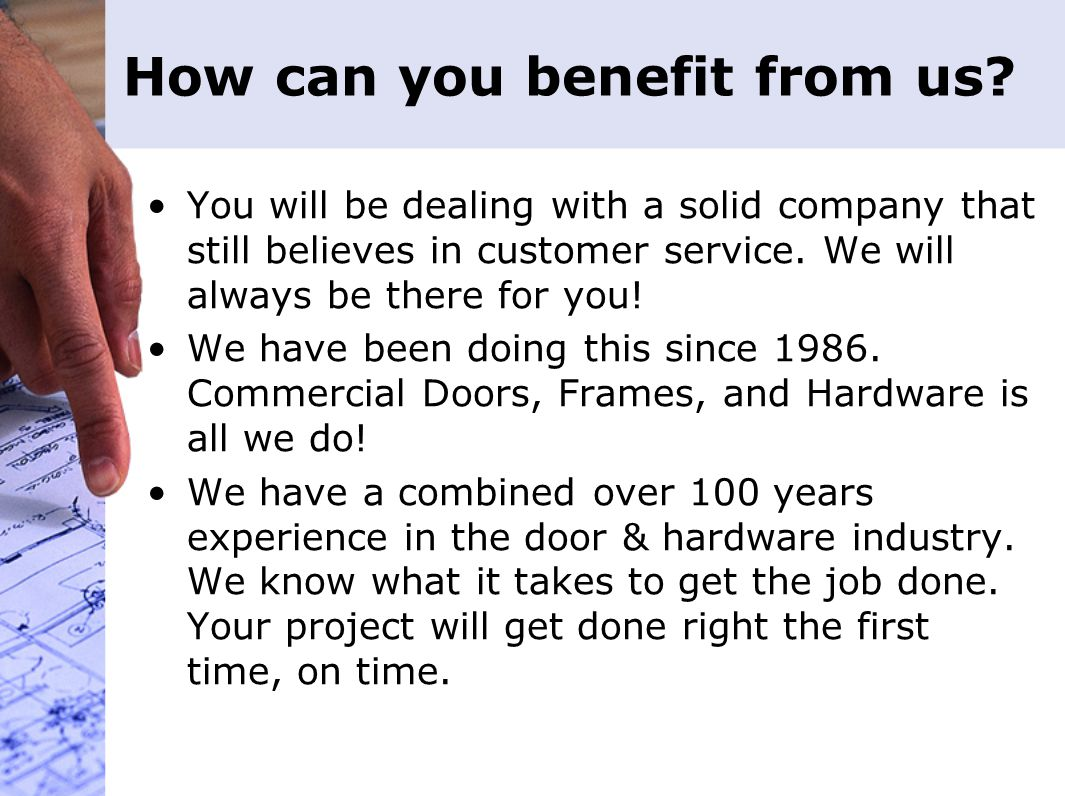 How can you benefit from us.