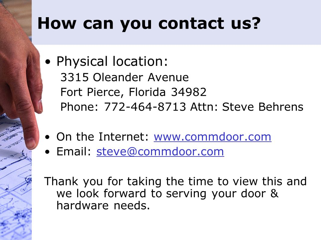 How can you contact us.