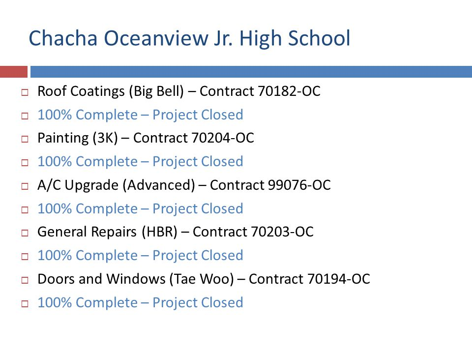 Chacha Oceanview Jr. High School Crack Repair