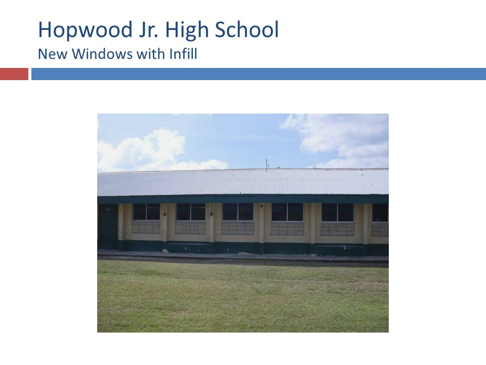 Hopwood Jr. High School New Windows and Doors