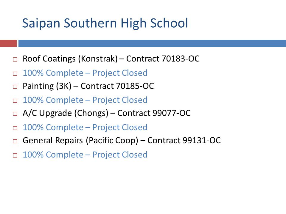 Saipan Southern High School Roof Coating