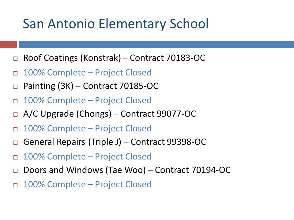 San Antonio Elementary School Roof Coating