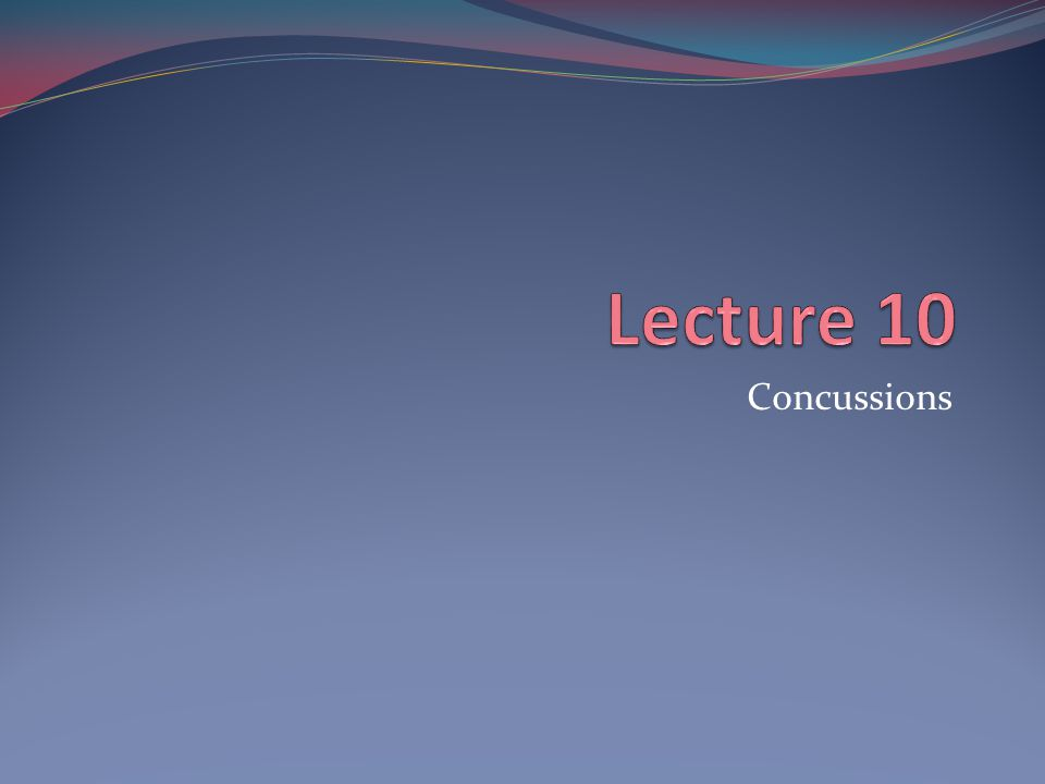 Injury Definition: Sports concussion Concussion is defined as a complex pathophysiological process affecting the brain, induced by traumatic biomechanical forces.