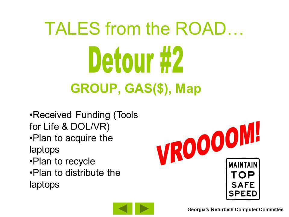 TALES from the ROAD… DOAS Lockdown on Computer Distribution GROUP, GAS($), Map Georgias Refurbish Computer Committee