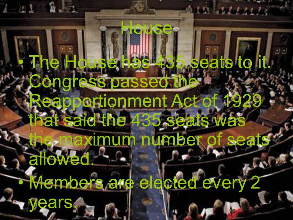Senate The Senate has 100 members.2 per state Each serve for 6 years.