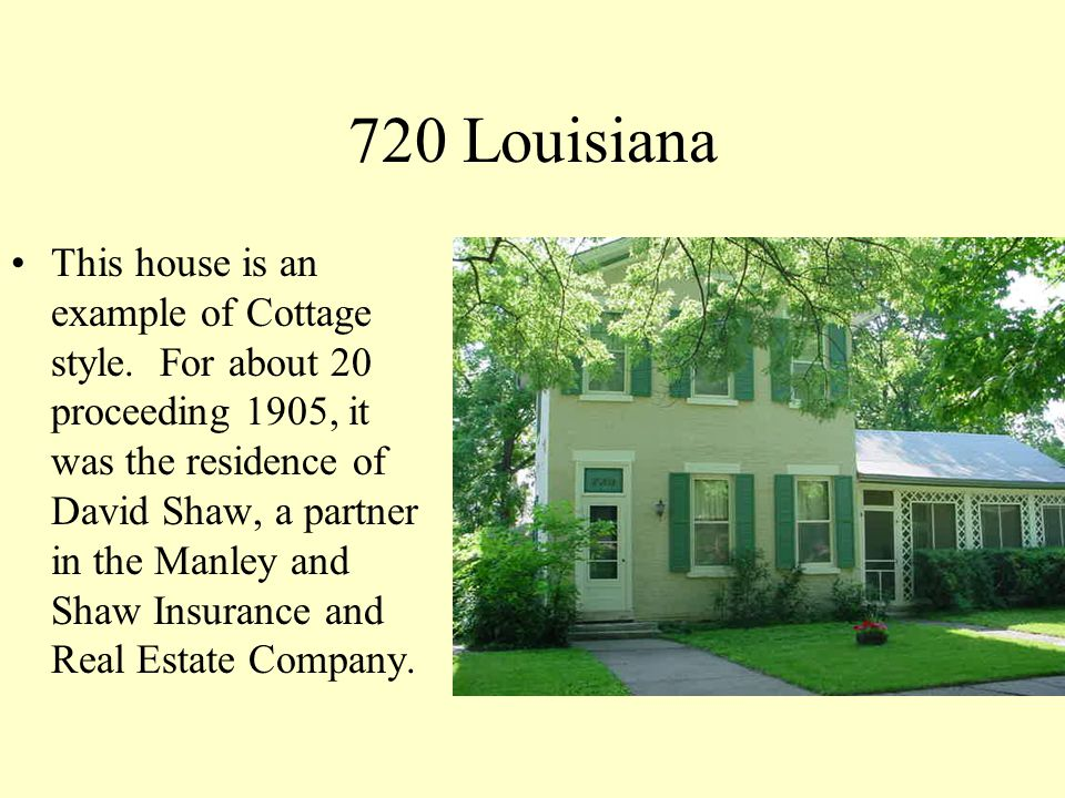 723 Louisiana One of the men instrumental in rebuilding Lawrence after Quantrills raid was Alexander Lewis.