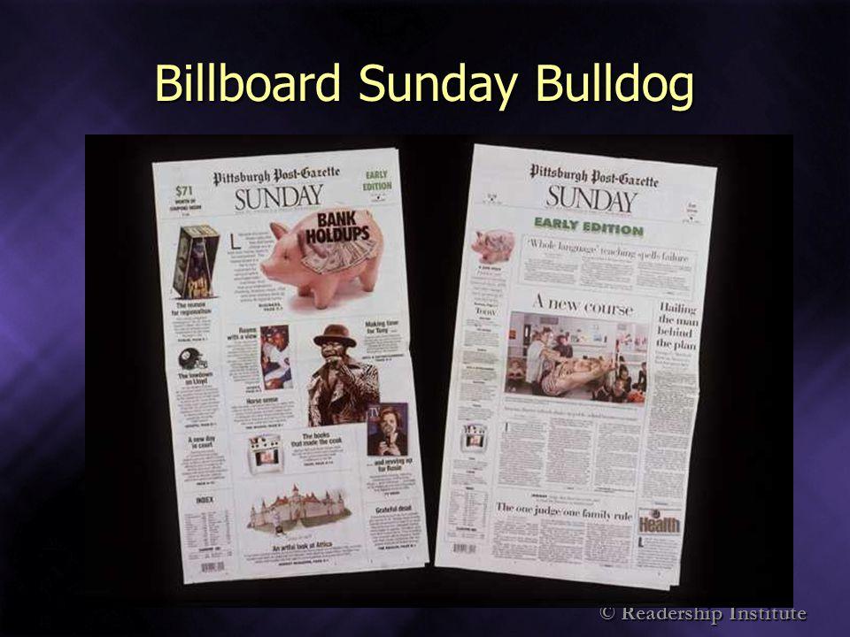 Billboard Sunday Bulldog