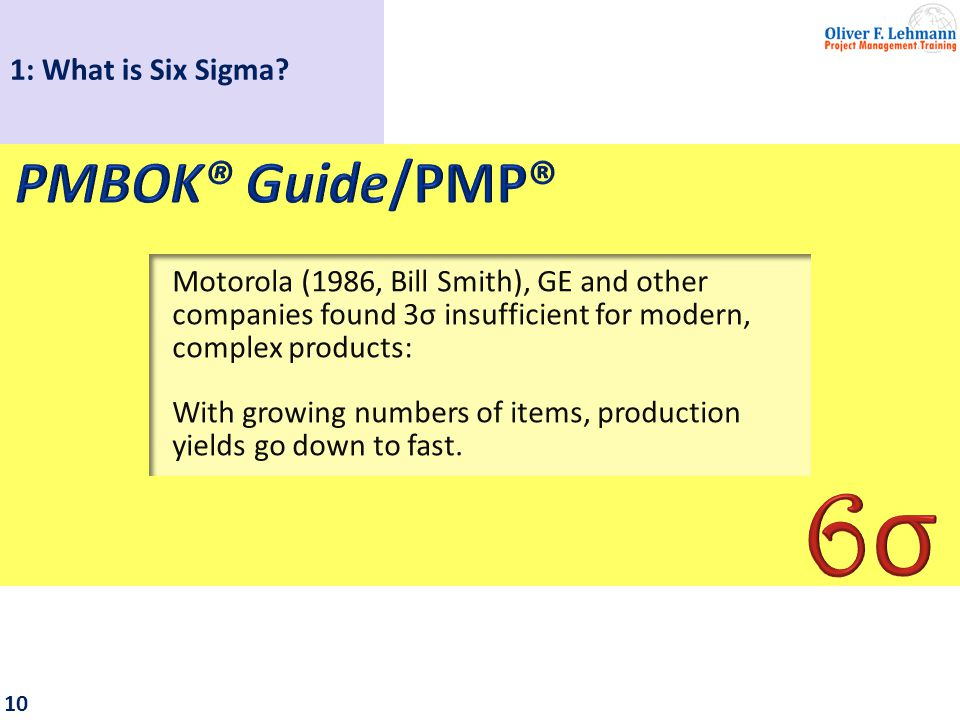 11 1: What is Six Sigma?