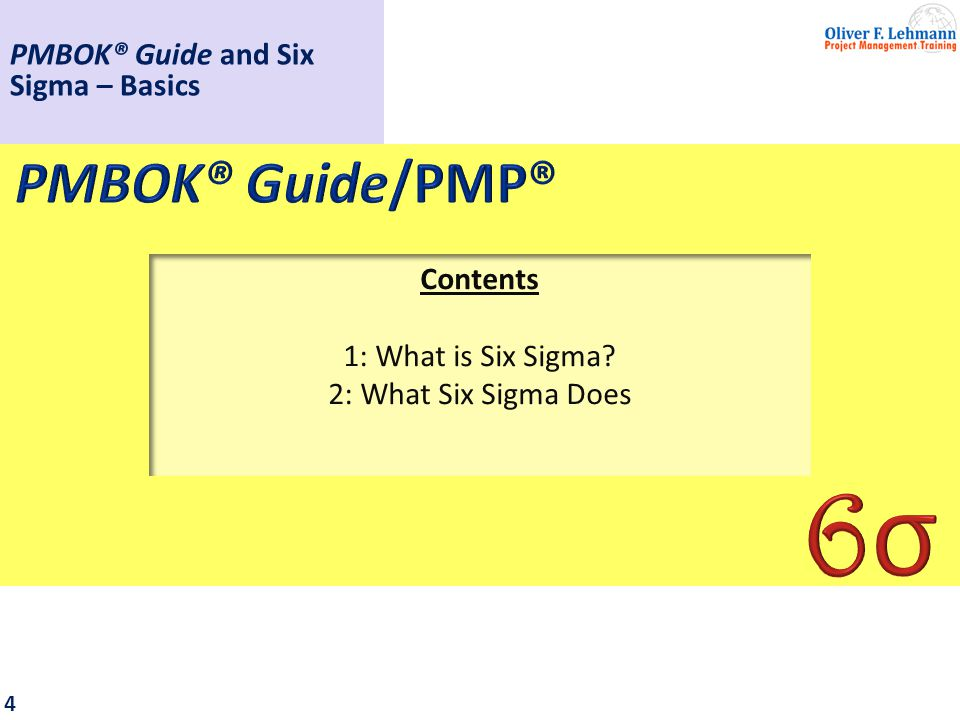 1: What is Six Sigma?