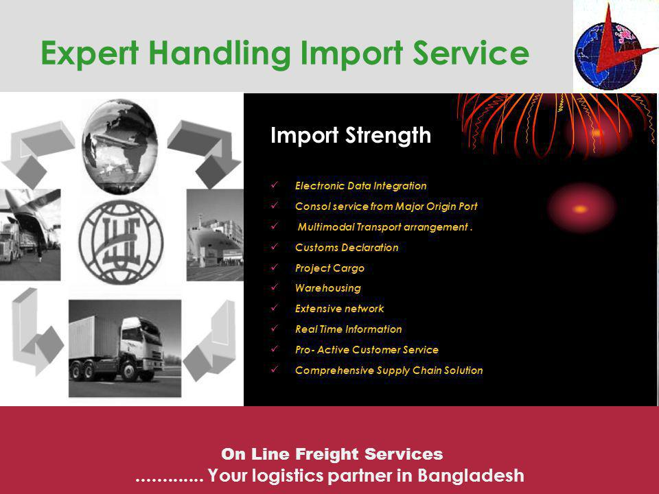 Comprehensive Supply Chain Solution On Line Freight Services.............