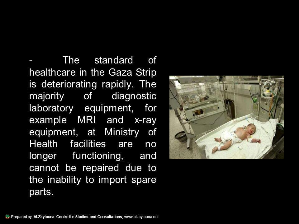 Prepared by: Al-Zaytouna Centre for Studies and Consultations, www.alzaytouna.net - Israeli raids continued, regardless of the suffering and closure, and with the lack of necessary medicine and sufficient healthcare facilities, civilians injured suffered even more.