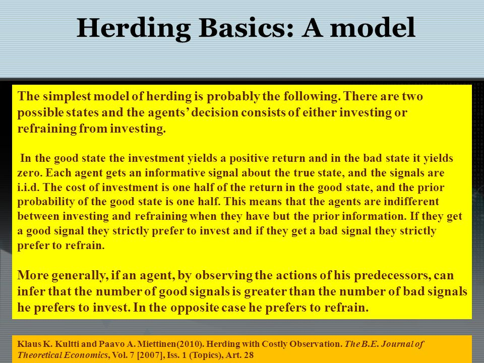 Herding Basics: Out of one market frying pan into anothers fire: Gold