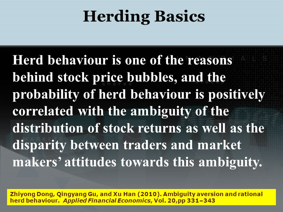 Behaviour and Financial Markets – The Euphoria The volume of trading in financial and commodity markets, and the sometimes the less than transparent relationship between investors demands and traditional metric of asset prices, is perhaps is related to those who trade despite having no new information to impound on stock prices (Forbes 2009:119).