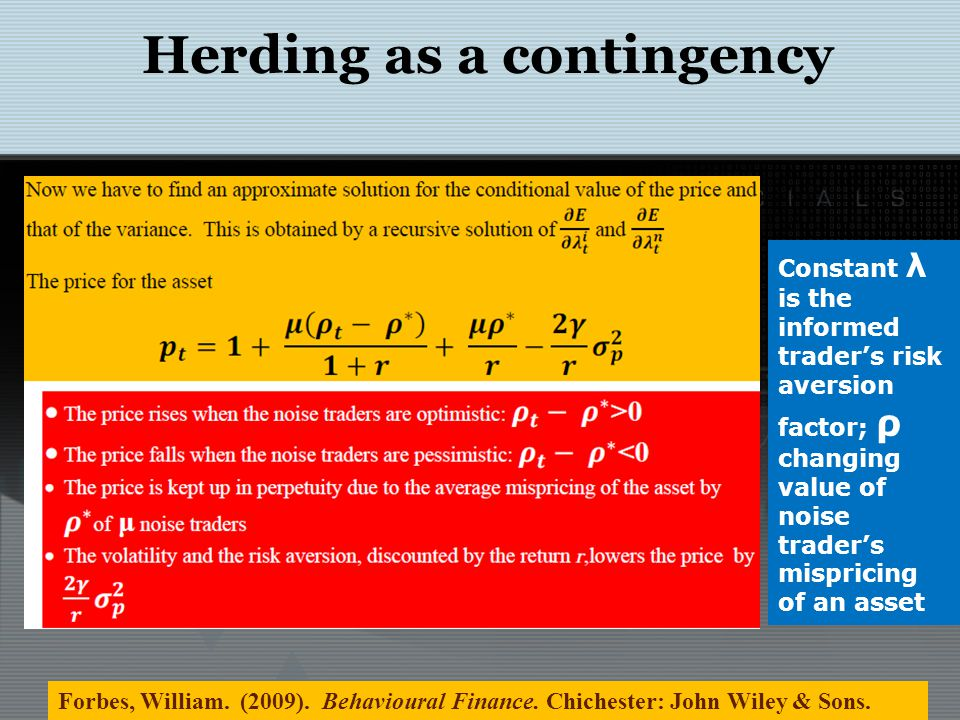 Herding in Financial Markets LTCMs basic strategy was convergence and relative-value arbitrage: the exploitation of price differences that either must be temporary or have a high probability of being temporary.