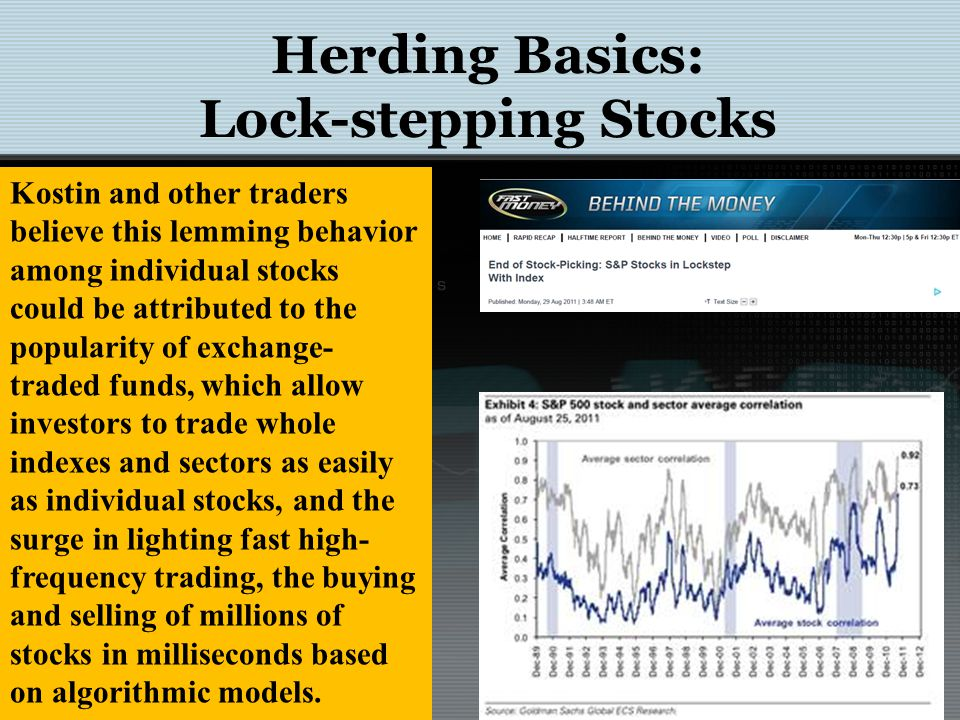 Herding in Equity Markets Guo and Shih (2008) have examined the co-movement of stock prices and its association with herd behaviour during period of high-tech mania using the implications for return data and found 5 key points: 1.