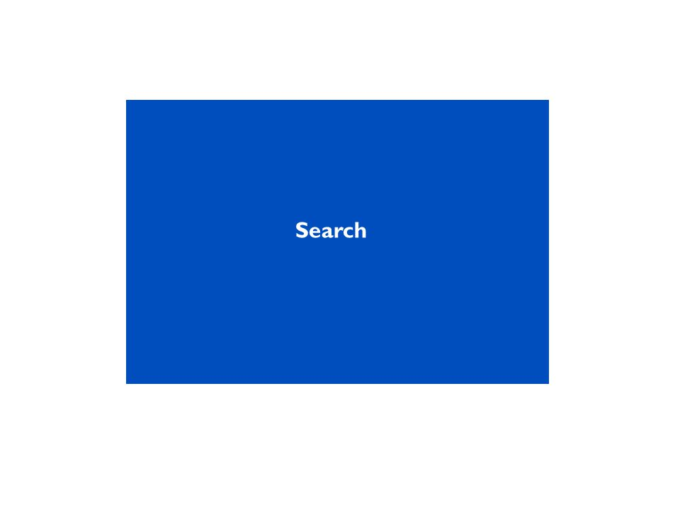 Quick search can cover the whole site, or specific types of search