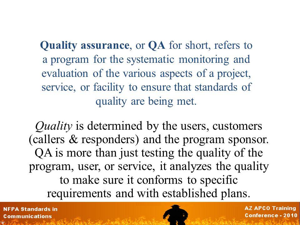 So what is QA.