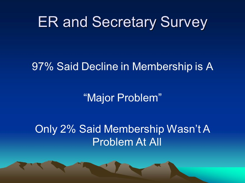 Lapsed Member Survey When asked was there a particular reason they joined the Elks.