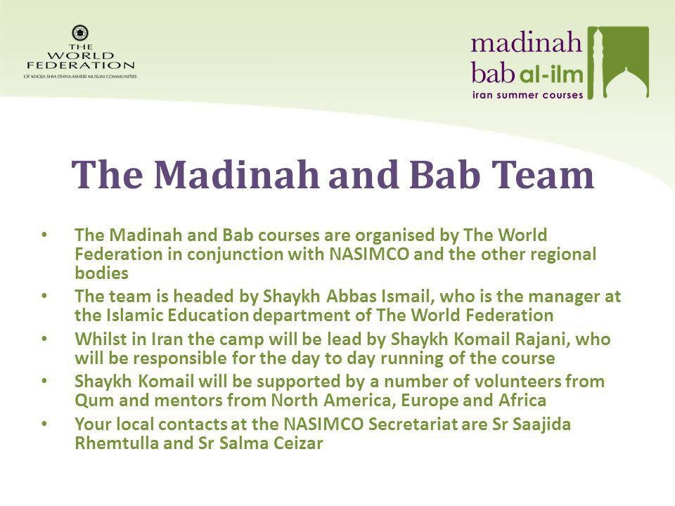 The Madinah and Bab Team: The Mentors This year, we have 10 mentors.