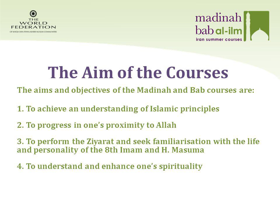 The Aim of the Courses Cont.5.