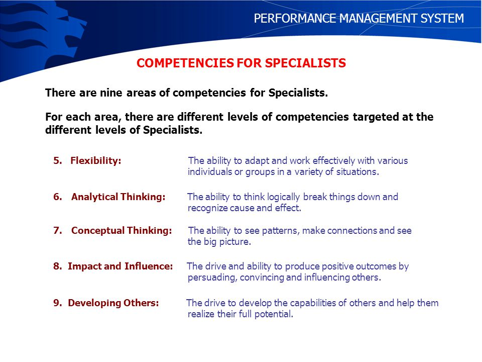 PERFORMANCE MANAGEMENT SYSTEM WORK REVIEW INVOLVES: SETTING OF WORK TARGETS AGREED TO BY STAFF AND REPORTING OFFICER MID-TERM REVIEW AND POSSIBE ADJUSTMENTS TO TARGETS END-OF-YEAR APPRAISAL ON KEY COMPETENCY DOMAINS RECOMMENDATION FOR PROFESSIONAL DEVELOPMENT