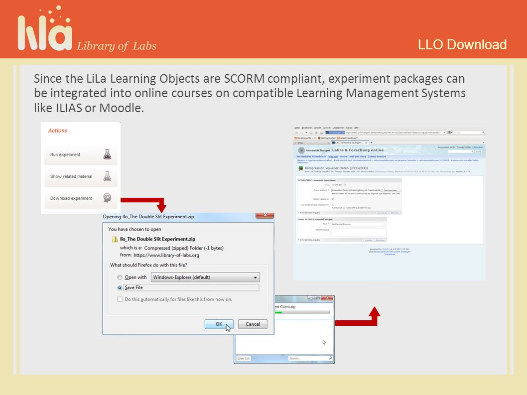 You can even upload new experiments to the LiLa repository, if you are a content provider.