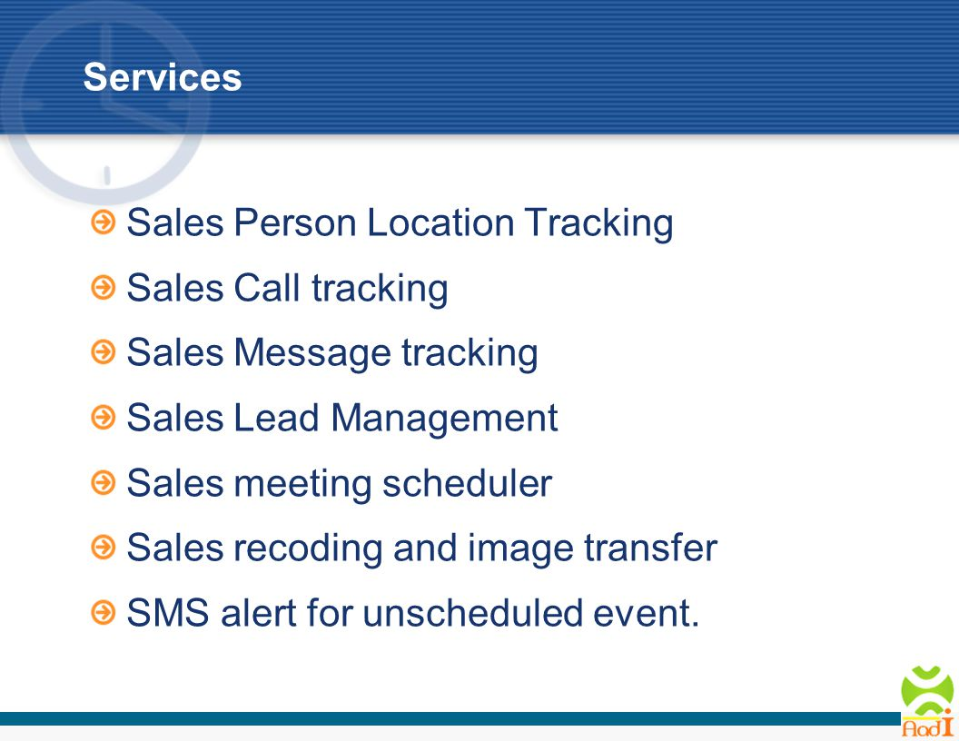 Features Online tracking from anywhere anytime.