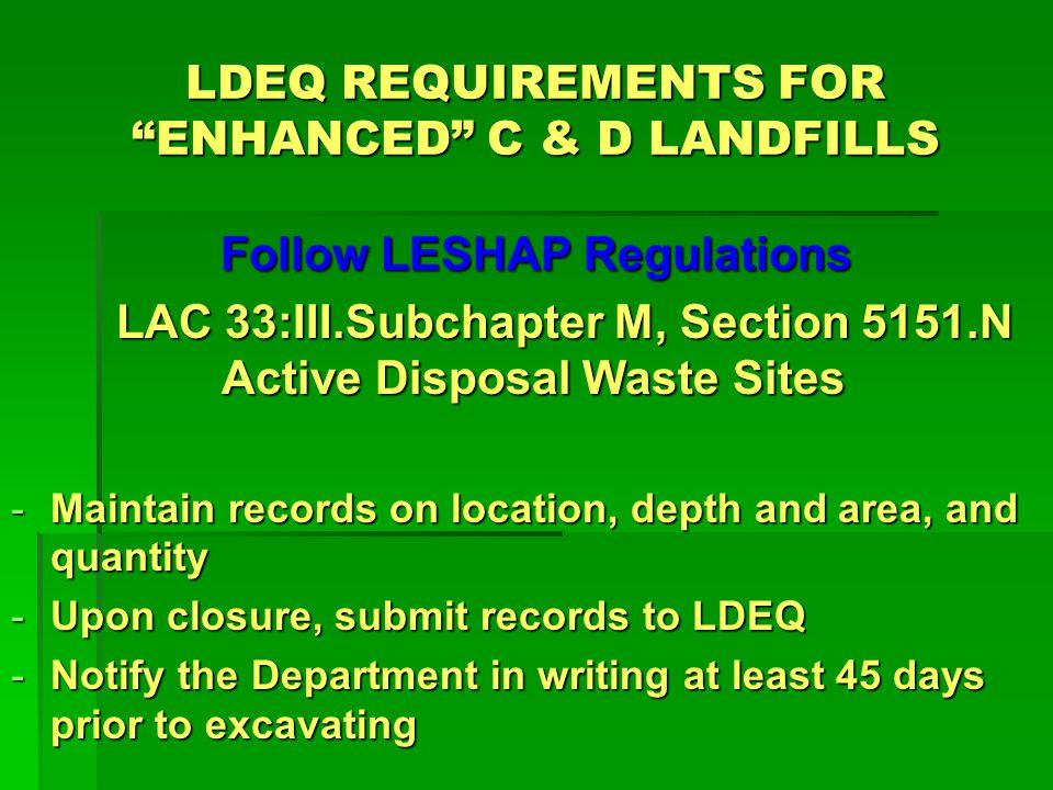LDEQ Demolition Debris Matrix A.