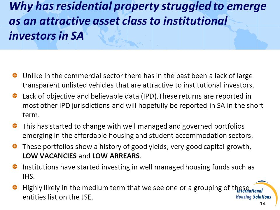 Contact Information 15 Rob Wesselo, Managing Partner RWesselo@IHSInvestments.co.za WWW: www.intlhousingsolutions.com