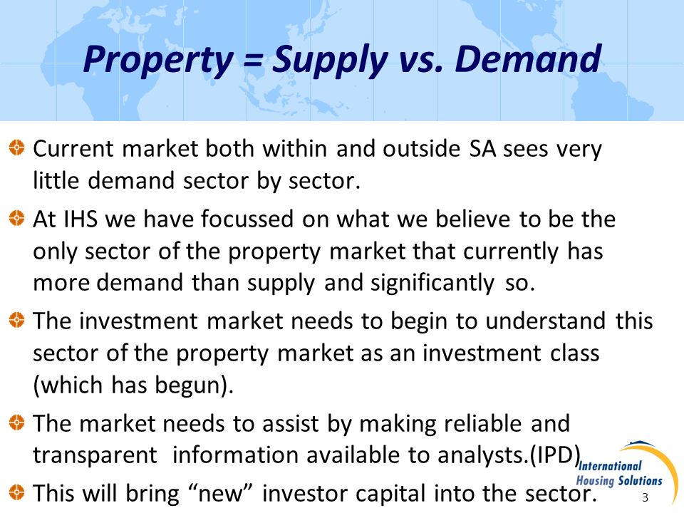 South Africa Demand 4 There is a 650,000-housing-unit shortage in the affordable market that grows by about 42,000 units per year Demand far exceeds supply because: Urbanization necessitates housing in.